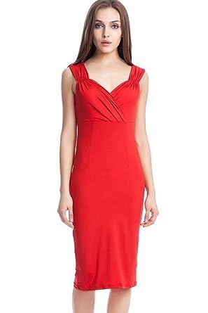 Zumeet Womens Cutout Midi Sheath Dress Christmas Dress Valentine