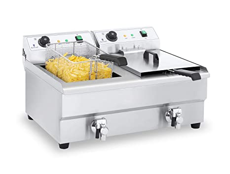 Royal Catering Freidora Electrica Profesional Doble RCEF ...