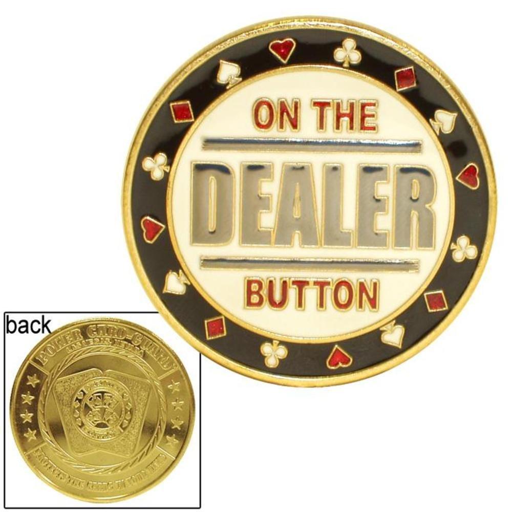 On the Dealer Card Guard Trademark Poker 10-95DEALER
