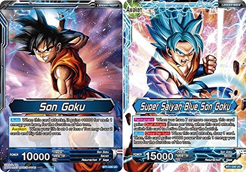 Dragon Ball Super TCG - Son Goku // Super Saiyan Blue Son Goku - Series 1 Booster Galactic Battle - (Series 1 Booster: Galactic Battle) - BT1-030