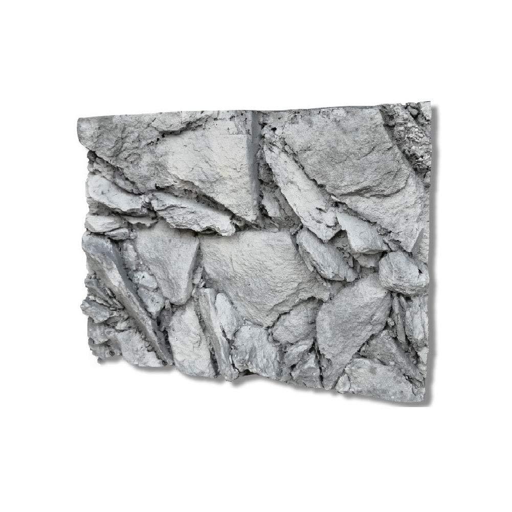 Caige Reptile Habitat Background,Aquarium 3D Rock Shape PU Foam Background,Gray by Caige
