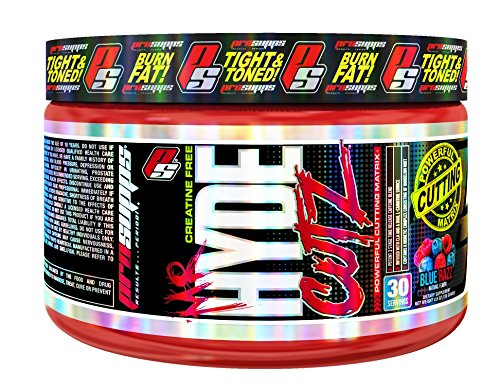 ProSupps Mr. Hyde CUTZ Pre-Workout Powerful Cutting Matrix, Blue Razz Flavor, 100% Creatine Free, Intense Stimulant Benefits & Thermogenic Compounds, 30 Servings, 4.9 oz. net wt.