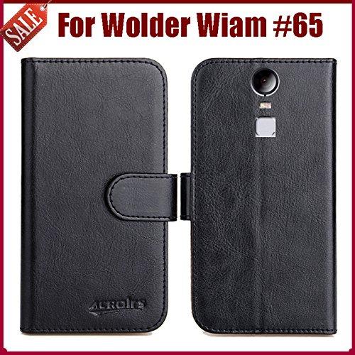 Prevoa Flip PU Funda Cover Case para Wolder WIAM #65 Lite ...