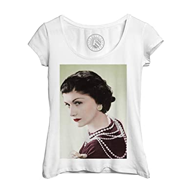 b90add681de Fabulous T-Shirt Femme Photo de Star Célébrité Coco Chanel Créatrice Mode  Original