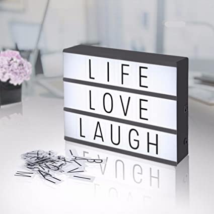 Diy Cinema Light Box With 203 Letters Numbers Symbols Emojis Free Combination