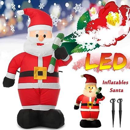 Amazon.com: ZAMTAC Muletas inflables con luz LED, 3.9 ft ...
