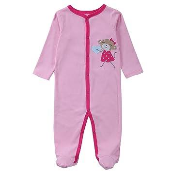 2cefaa3f6a955 エルフ ベビー(Fairy Baby)足つきロンパース ベビー服 つなぎ カバーオール 長袖 0-3M 猿