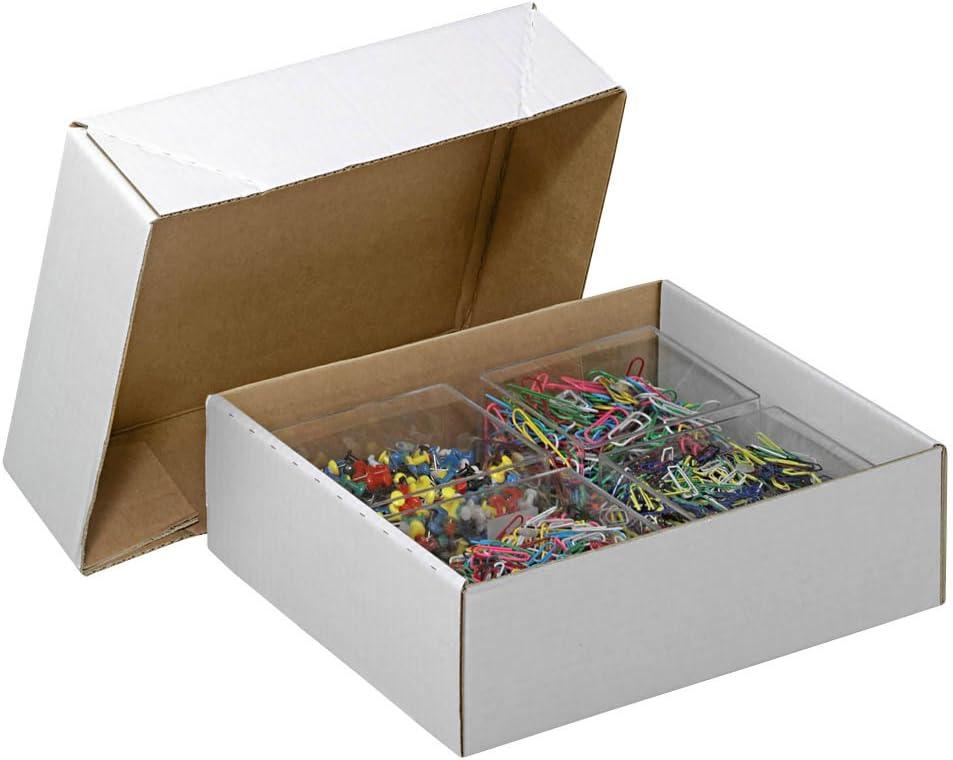20/Cajas Con Tapa Extra/íble 1/ondulaci/ón//blanco//33,8/x 23,8/x 9,2/cm LxBxH