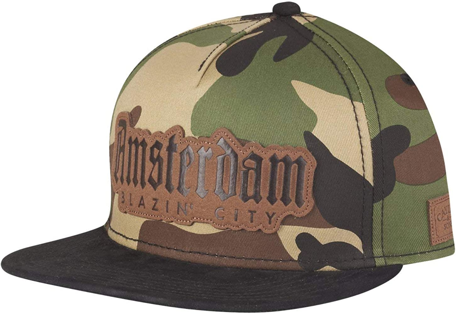 Cayler & Sons Gorras Amsterdam Lux Woodland Camo/Black Snapback ...