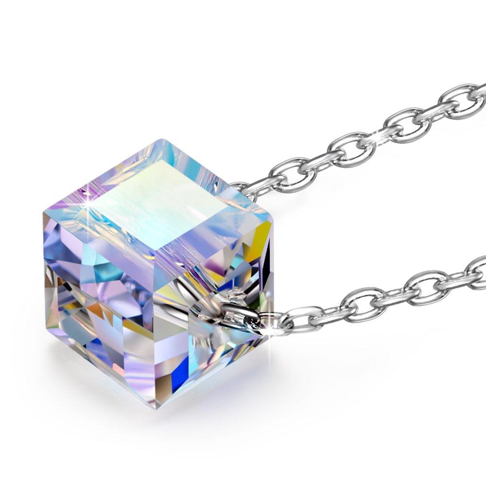 Alex Perry Hermosa Vida Plata de Ley Fabricados con Cristales Swarovski Cubo