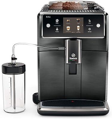 Saeco Xelsis Super Automatic Espresso Machine, Titanium Metal Front