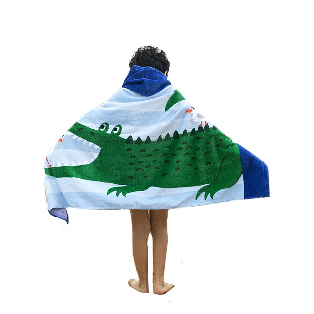 AteAte Cute Cartoon Baby Kid's Hooded Bath Towel Toddler Boy Girls Beach Towel New 100% Cotton 400 GSM(Crocodile)