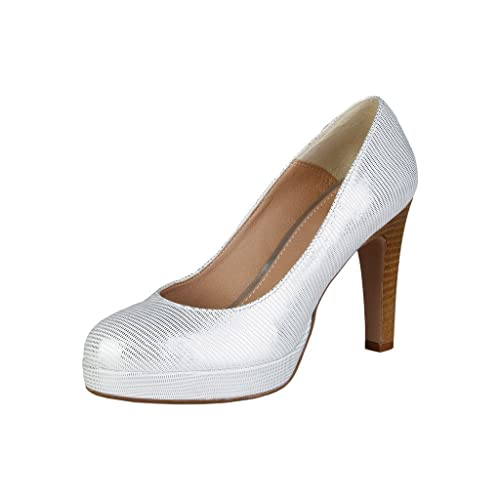 45a949734f1 VERSACE V-1969 Women s Melodie Court Shoes Silver Silver Silver Size  5 UK