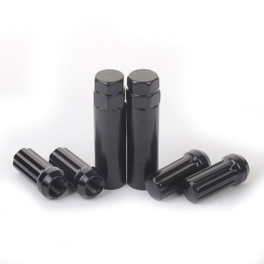 - Pack of 24 Wheel Lug nuts 14mm x 1.5 Thread Size 75114K242 HanAuto Black Lug Nuts with 2 KEY