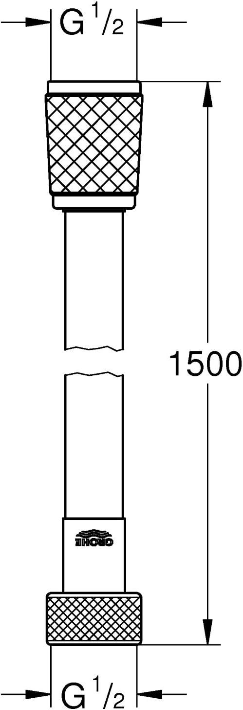 Grohe 28741001 28741001-Vital millennioflex Trend 1500/ Manguera de ducha cromo