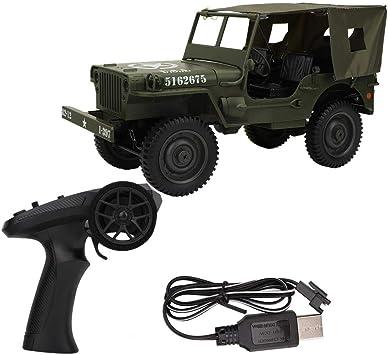 1/10 Camión Militar RC, 2.4G Control Remoto Tracción en Las Cuatro Ruedas Camión Escalada Coche Juguete Regalos para Niños Jóvenes Adultos(#2)