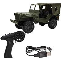 1/10 Camión Militar RC, 2.4G Control Remoto Tracción