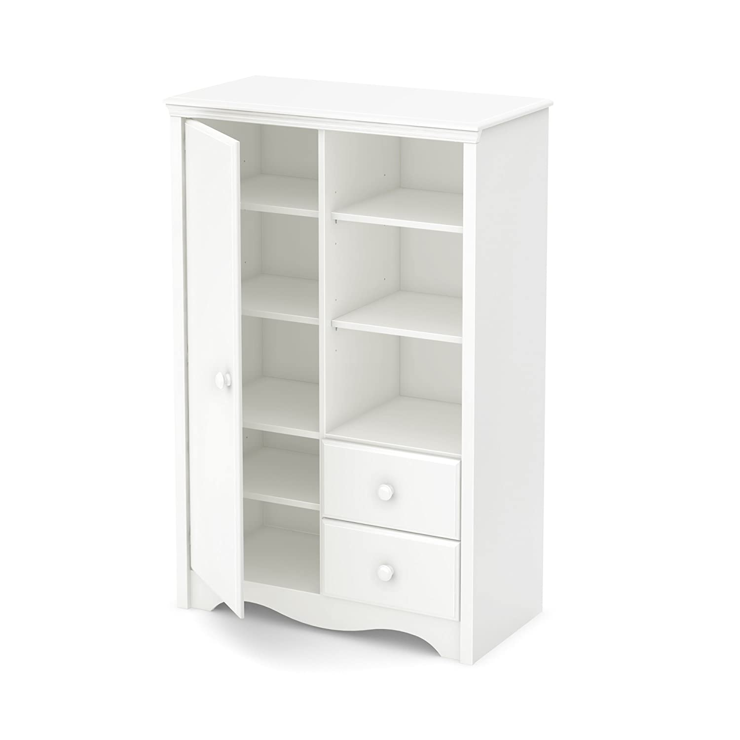 South Shore Furniture Heavenly Armoire with Drawers, Pure White 3680038