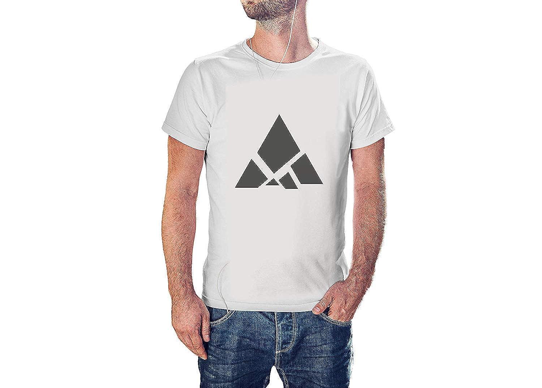 Kilsd Triangular Mountain Figure T-Shirt Cool Modern Tees for Mens J848