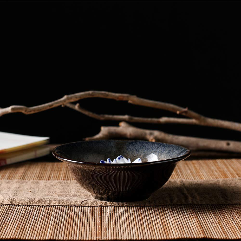 Uniidea Incense Burner Bowl, Ceramic Handicraft Incense Holder for Sticks, Coil Lotus Ash Catcher Tray 4.62 Inch Gray by Uniidea (Image #4)
