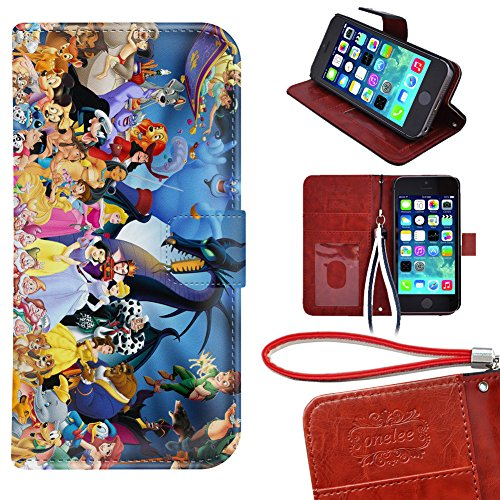 iPod Touch 5 Wallet Case, Onelee - Disney all characters ...