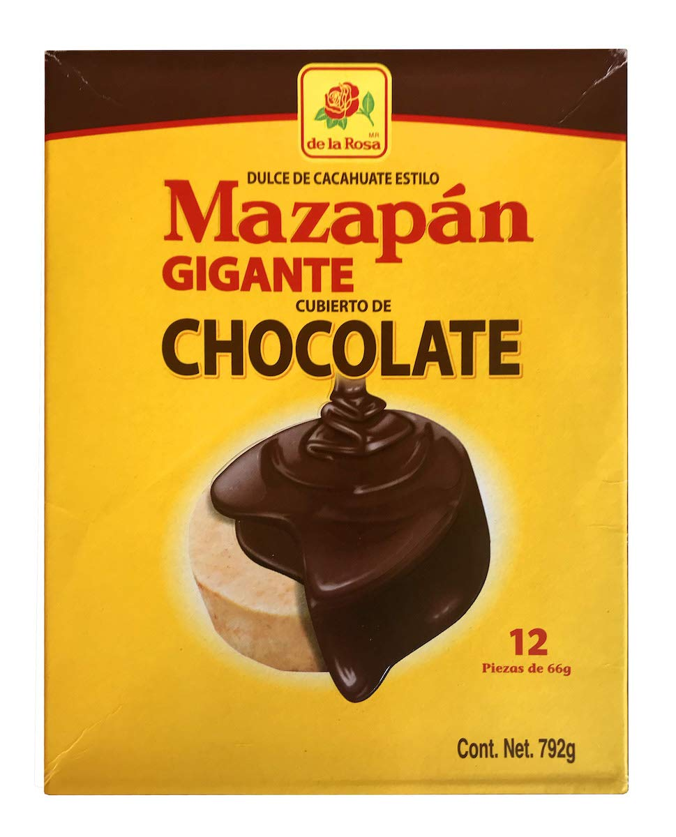 Amazon.com : De la Rosa - Mazapan Peanut Candy Chocolate Cover Giant Size, from Mexico - 27.93 oz / 792 gr : Grocery & Gourmet Food