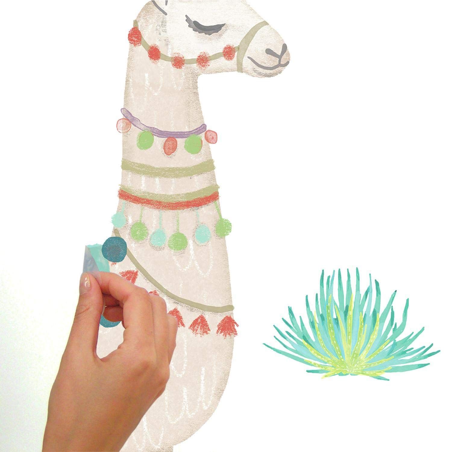 RoomMates Watercolor Llama Peel And Stick Giant Wall Decals by RoomMates (Image #3)