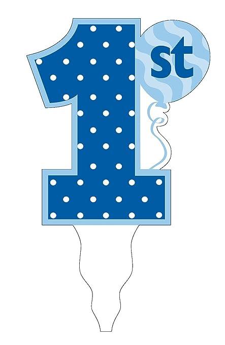 amazon com creative converting 1st birthday boy cake topper blue rh amazon com 1st birthday clipart images 1st birthday clipart free