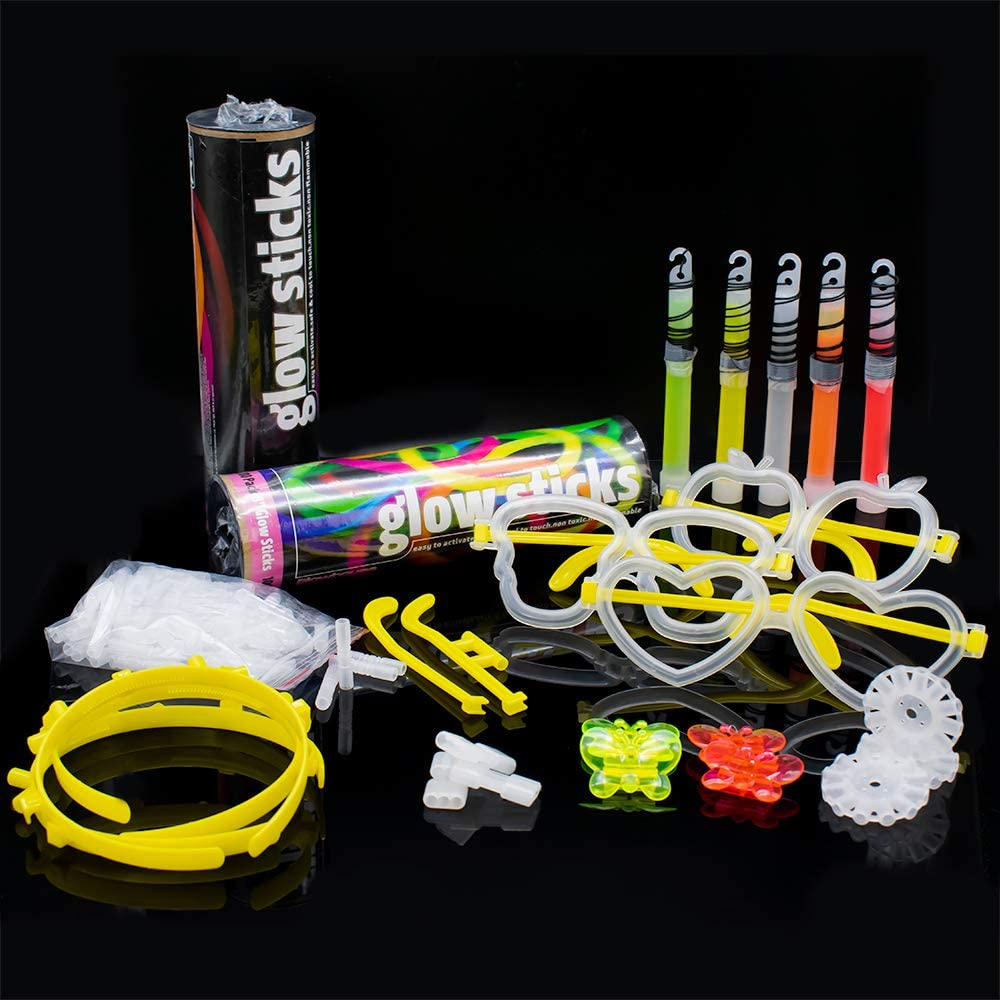 10x Multi-use Fishing Tube Connectors Fluorescent Glow Stick Clips