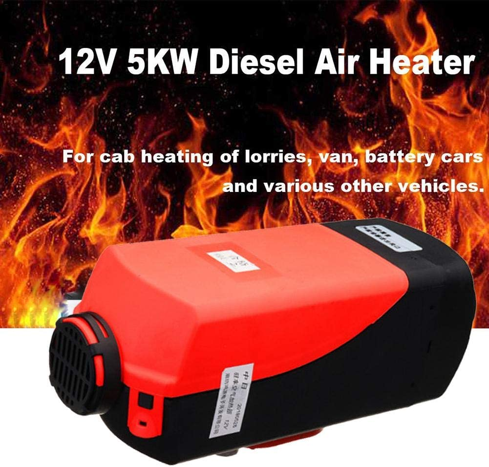 RV 12V//24V Car Heater Air Diesels Heater Parking Heater 5KW With Remote Control LCD Monitor for Motorhome Trailer Boats,Trucks