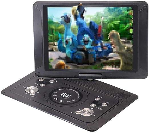 WNTHBJ Reproductor de DVD 14.1 Pulgadas, Reproductor portátil de TV portátil de Lectura USB, Reproductor de CD Reproductor de EVD portátil, Reproductor de Juego Multimedia: Amazon.es: Hogar