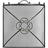 Hill Interiors Mesh Fireguard in Antique Pewter Effect Finish (24 x 24 5.3in) (Silver/Black/Gray)