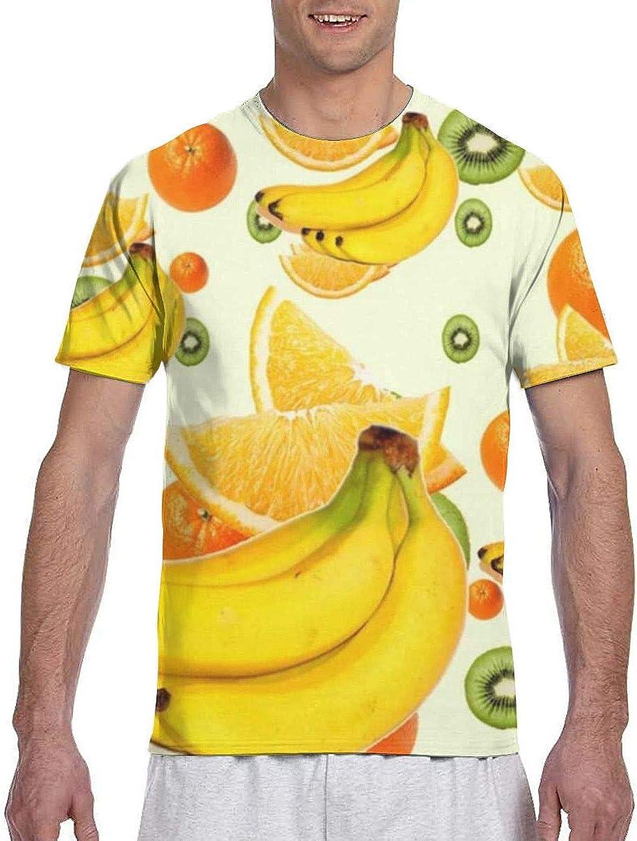 Plátanos Kiwi Naranjas Frutas Resumen Camisas de Corte Casual ...