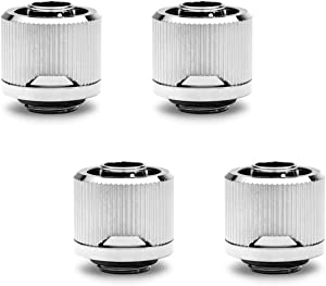 "EKWB EK-Quantum Torque STC-10/16 Compression Fitting for Soft Tubing, 10/16mm (3/8"" ID, 5/8"" OD), Nickel, 4-Pack"
