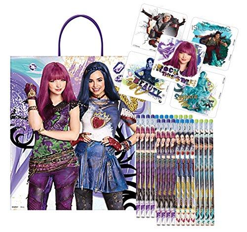 Disney Descendants 2 Valentine's Day Classroom Exchange Favors! 24 Pencils & Sticker! Plus Bonus Disney Descendants 2 Valentine's Loot Bag!