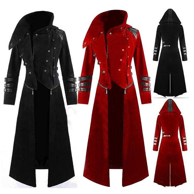 Amazon.com  Mens Gothic Tailcoat Steampunk Jacket kstare VTG Victorian  Costume Tuxedo Uniform Long Coat Party Uniform  Clothing d2309cb0832