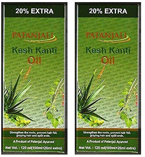 2 x Patanjali Kesh Kanti Hair Oil 100ml (Pack of 2) by Patanjali