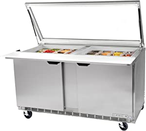 "Beverage-Air SPE48-18M 48"" Mega Top Refrigerated Salad/Sandwich Prep Table"