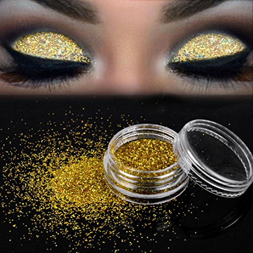 Sunfei Sparkly Makeup Glitter Loose Powder EyeShadow Gold Eye Shadow Pigment