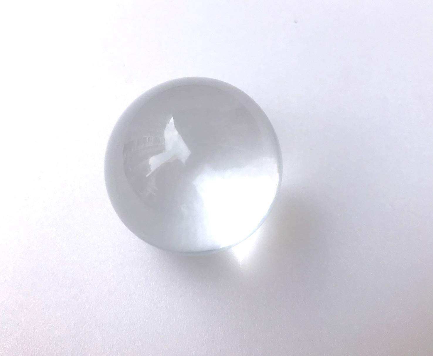 YJZR 2pcs Round Clear Solid Acylic Sphere Transparent Ornament Crystal Ball 10mm//0.4 Inches Diameter