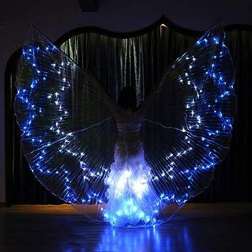 Glow Kids Fairy Butterfly LED Bauchtanzflügel Kostüme Leuchten Isis Flügel