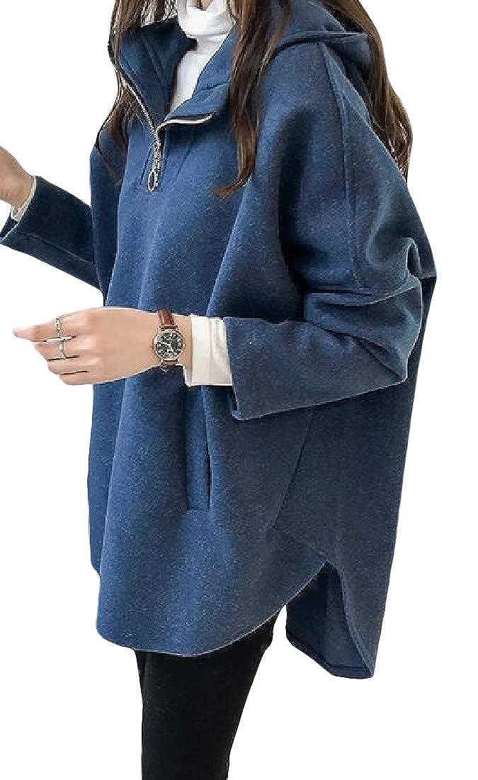 Lutratocro Women Casual Zipper Front Pullover Hooded Sweatshirts Jacket