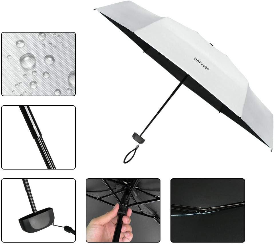 Pioggia Sole Ombrello Pieghevole Tascabile anti-UV Leggera Compatta da Viaggio Carino Moda