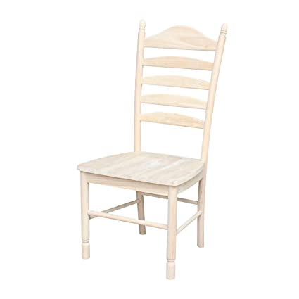 Amazon Com International Concepts Bedford Ladderback Chairs Set