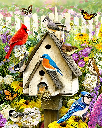 Vermont Christmas Company Backyard Birds Jigsaw Puzzle 1000 Piece Bird Jigsaw Puzzles