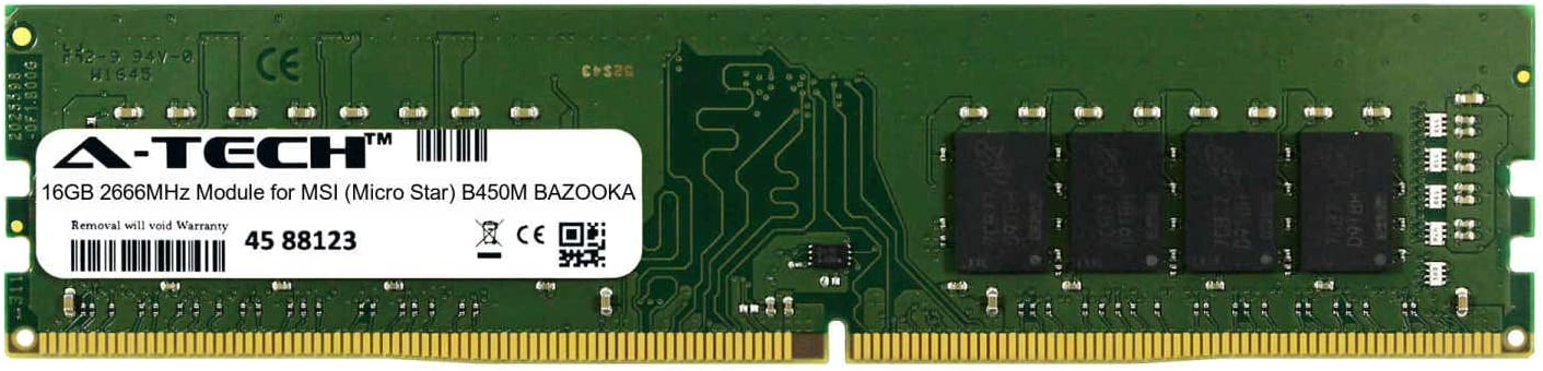 A-Tech 16GB Module for MSI ATMS368305A25823X1 Micro Star B450M Bazooka Desktop /& Workstation Motherboard Compatible DDR4 2666Mhz Memory Ram