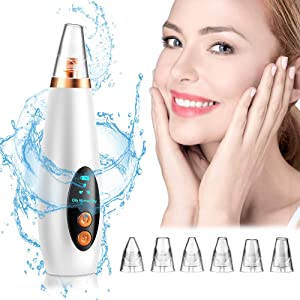 Blackhead Remover Pore Vacuum - Electric Acne Comedone Extractor Kit USB Rechargeable Facial Blackhead Suction Devices for Women & Men