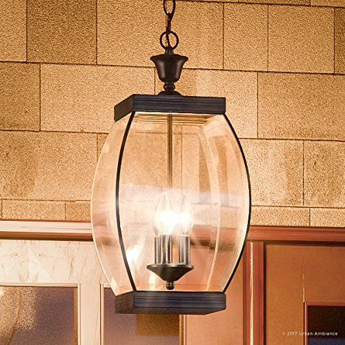 Luxury Colonial Outdoor Pendant Light, Large Size: 20.5