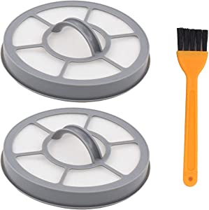 ApplianPar Pack of 2 Vacuum Filter with Brush Replacement for Eureka Airspeed EF-7 AS3001A, AS3008A, AS3011A, AS3030A Part # 091541