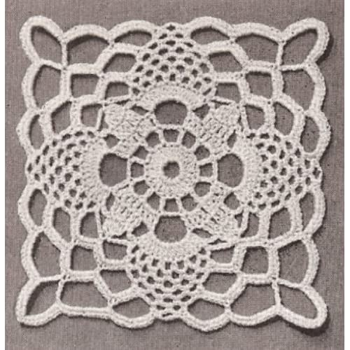Hot Sale Vintage Crochet Pattern To Make Tablecloth Motif Block